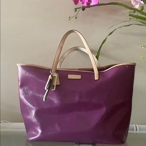 Coach purple park metro leather tote F25028